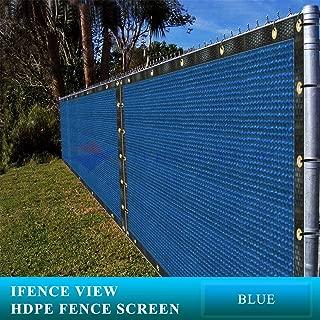 blue construction fence