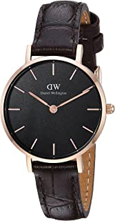 Daniel Wellington Dress Watch Analog Display Japanese Quartz Movement For Women Dw00100226, Brown Band
