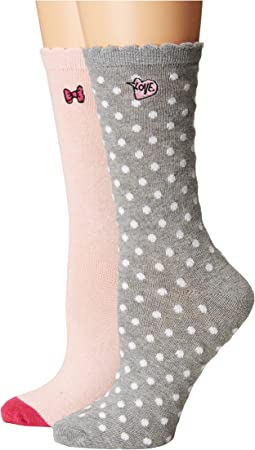 Betsey Johnson - 2-Pack Boot Socks
