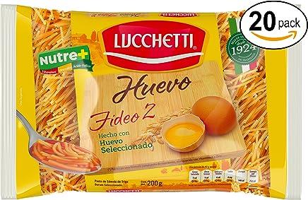 Lucchetti Fideo con Huevo, 20 paquetes de 200g