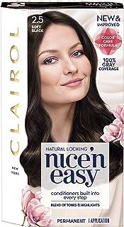 Clairol Nice 'N Easy Permanent Hair Color, 2.5 Soft Black
