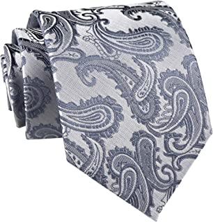 Men's Paisley Ties Jacquard Woven Handmade Unique Designer Neckties