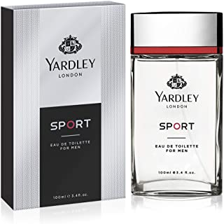 Yardley Sport Eau de Toilette, Luxurious unique scent for gents, Marine, Musk and Amber, 100 ml
