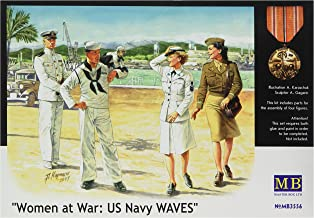 Master Box Women at War: USM Waves (2EA Women/Men) Figure Model Building Kits (1:35 Scale)