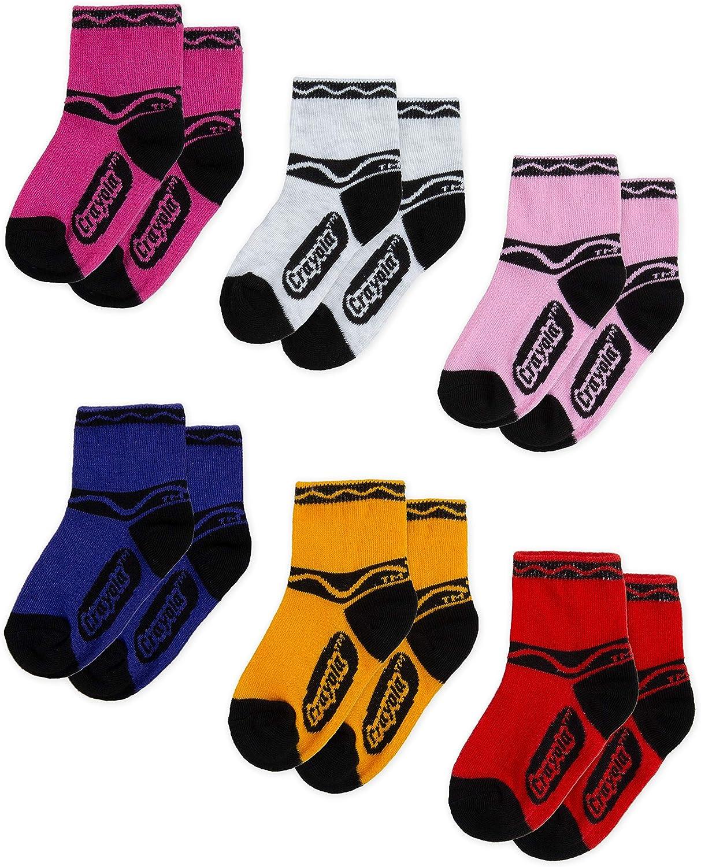 Crayola Kids' Mid Cut Ankle Socks (6-Pack)