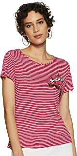 Jealous 21 Women's Striped Regular Fit T-Shirt
