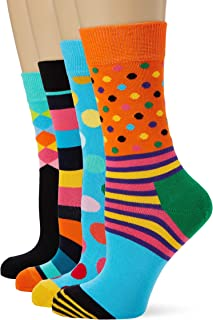 Happy Socks Hamburger Sock Calze Taglia Unica: 36-40 Multicolore Donna Multicolour 730 4//7