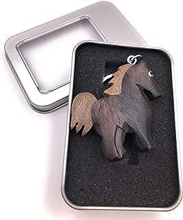 caf/é Pixnor Porte-cl/és breloque en forme de cheval avec strass