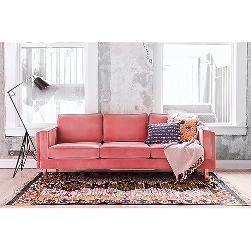 Pink Velvet Sofa Amazon Com
