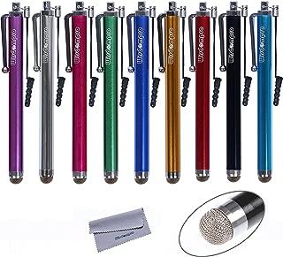 タッチペン Wisdompro マイクロニットスタイラスペン 導電繊維タイプ 静電容量性 iPhone・iPad・スマホ・タブレット対応 【9本組 9色】