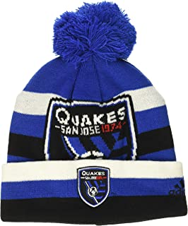 MLS by Outerstuff Cuffed Knit Hat with Pom, Master Blue 3, Youth Boys 1 Size