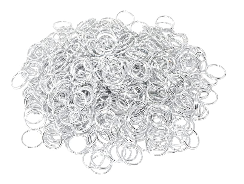 Mandala Crafts Chainmail Aluminum Jump Rings in Bulk for Chain Mail Coif, Costume, Viking Maille Armor, Jewelry Making (12 Gauge 24mm, Silver Tone)