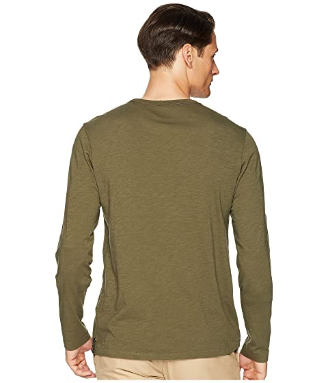 verde manga Camiseta Todd UU EE Hecho en los Snyder oliva larga bolsillo de con wSYxYH781q