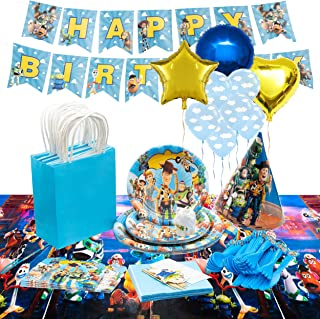 GK Galleria Toy Story Birthday Party Supplies for 12 Guest with 130+ Items - Complete Set - Toy Story Party Supplies - Bir...