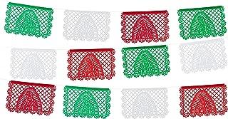 Medium Tissue Virgin Mary/Virgen de Guadalupe Papel Picado - Red/White/Green
