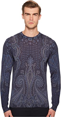 Placed Paisley Sweater