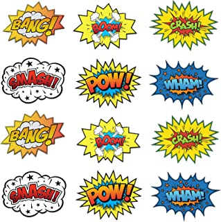 Lilly and the Bee Novelties Large Cardboard Superhero Word Cutouts Size 17 X 13 Inches Set of 12 Pieces