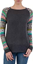 NOVICA Grey Long Sleeve Cotton Blend Knit Sweater, Andean Star in Charcoal'