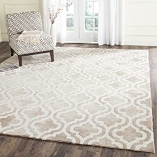 Safavieh Dip Dye Collection DDY537G Handmade Geometric Moroccan Watercolor Beige and Ivory Wool Area Rug (9' x 12')