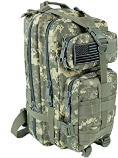 Military Army Tactical Backpack Combat 3 Day Assault Pack Molle Bag Rucksacks Camping Hunting with Flag Patches