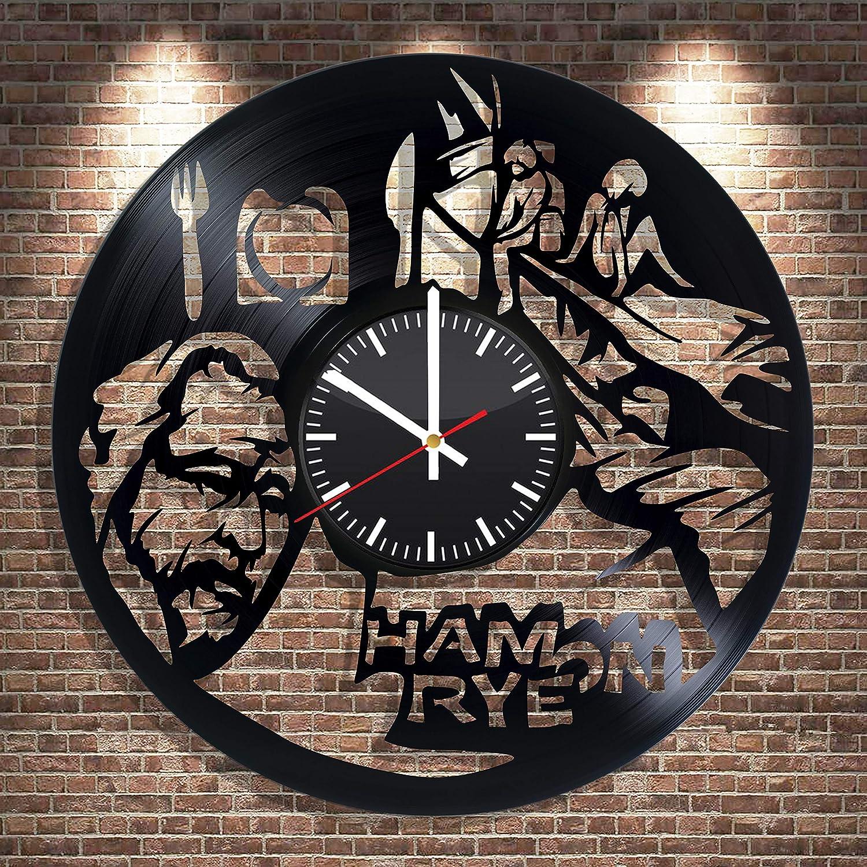BroStore Decor Ham on Rye Vinyl Wall Clock, Charles Bukowski Art, Ham on Rye Charles Bukowski Gift for Any Occasion