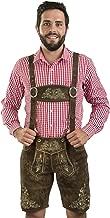 Herbstlaub Authentic Men's Bavarian Lederhosen - Oktoberfest Trachten Herbstlaub