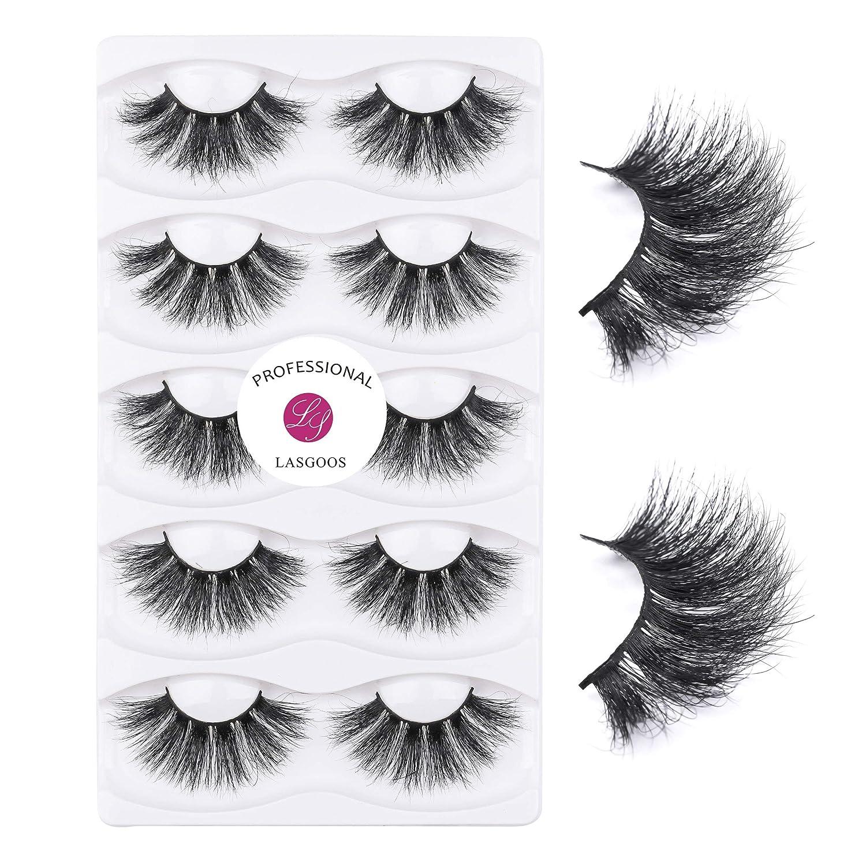 Mink Fake Eyelashes Extensions LASGOOS Lashes Nippon regular agency Luxu Ranking TOP2 25mm Siberian