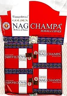 Vijayshree Golden Nag Champs conos de incienso Dhoop–Full case-12cajas