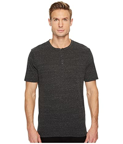 Threads 4 Thought Baseline Short Sleeve Tri-Blend Henley (Heather Black) Men