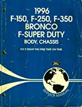 1996 Ford F-150, F-250, F-350, Bronco, F-Super Duty Factory Body & Chassis Service Shop Repair Workshop Manual, Part No. FCS-12107-96-1
