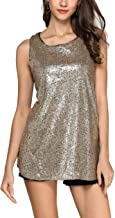 GUANYY Women's Sleeveless Sparkle Shimmer Camisole Vest Sequin Tank Tops