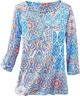 Paisley Patchwork Knit Top