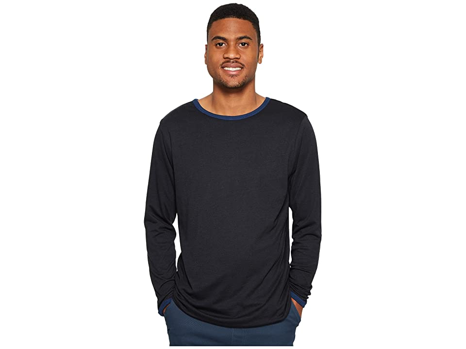 Image of 4Ward Clothing Four-Way Reversible Long Sleeve Jersey Tee (Navy/Black) Boy's Sweater