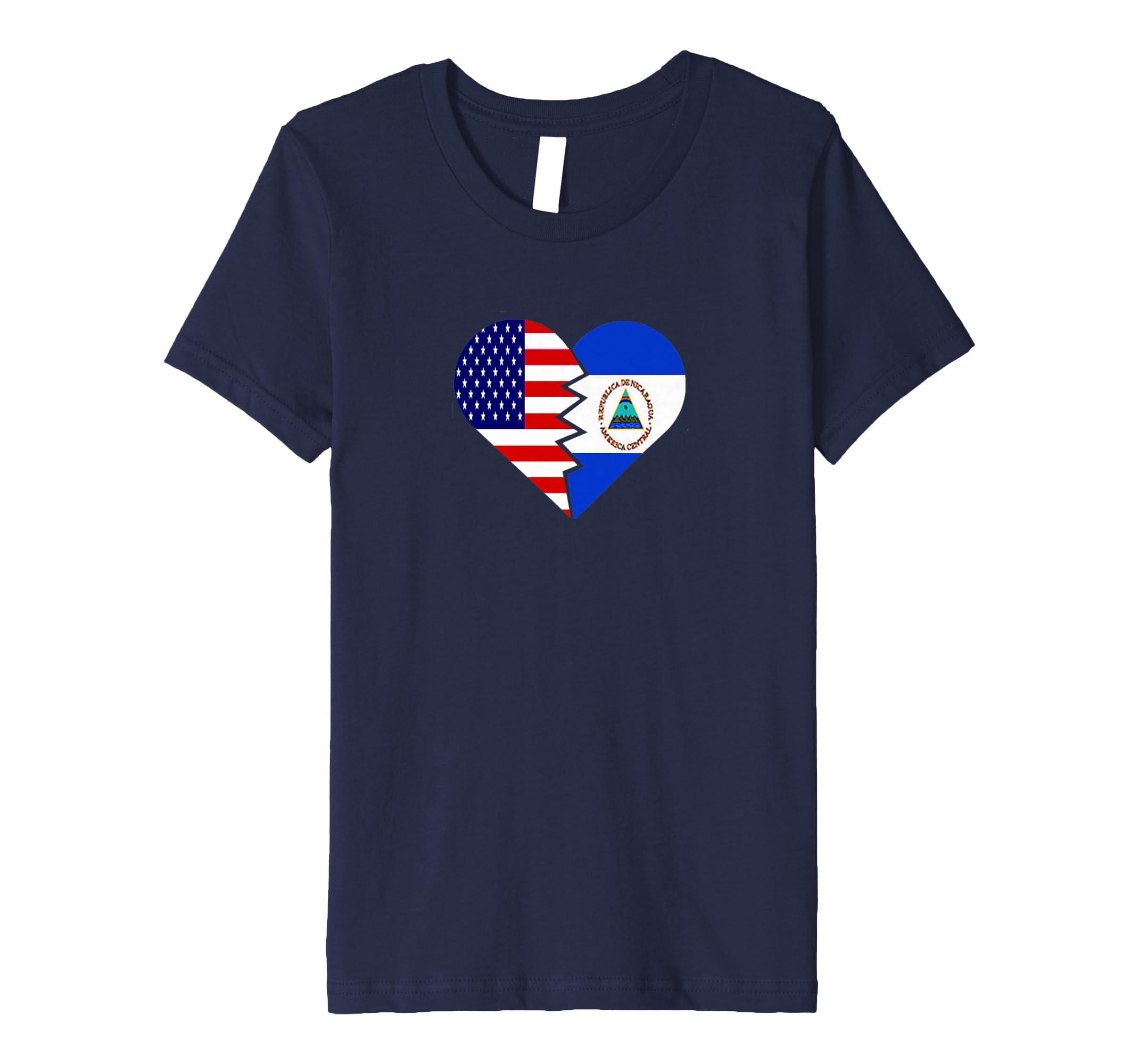 Amazon.com: Nicaragua T-Shirt USA Flag Patriot Latino Spanish 4th July: Clothing