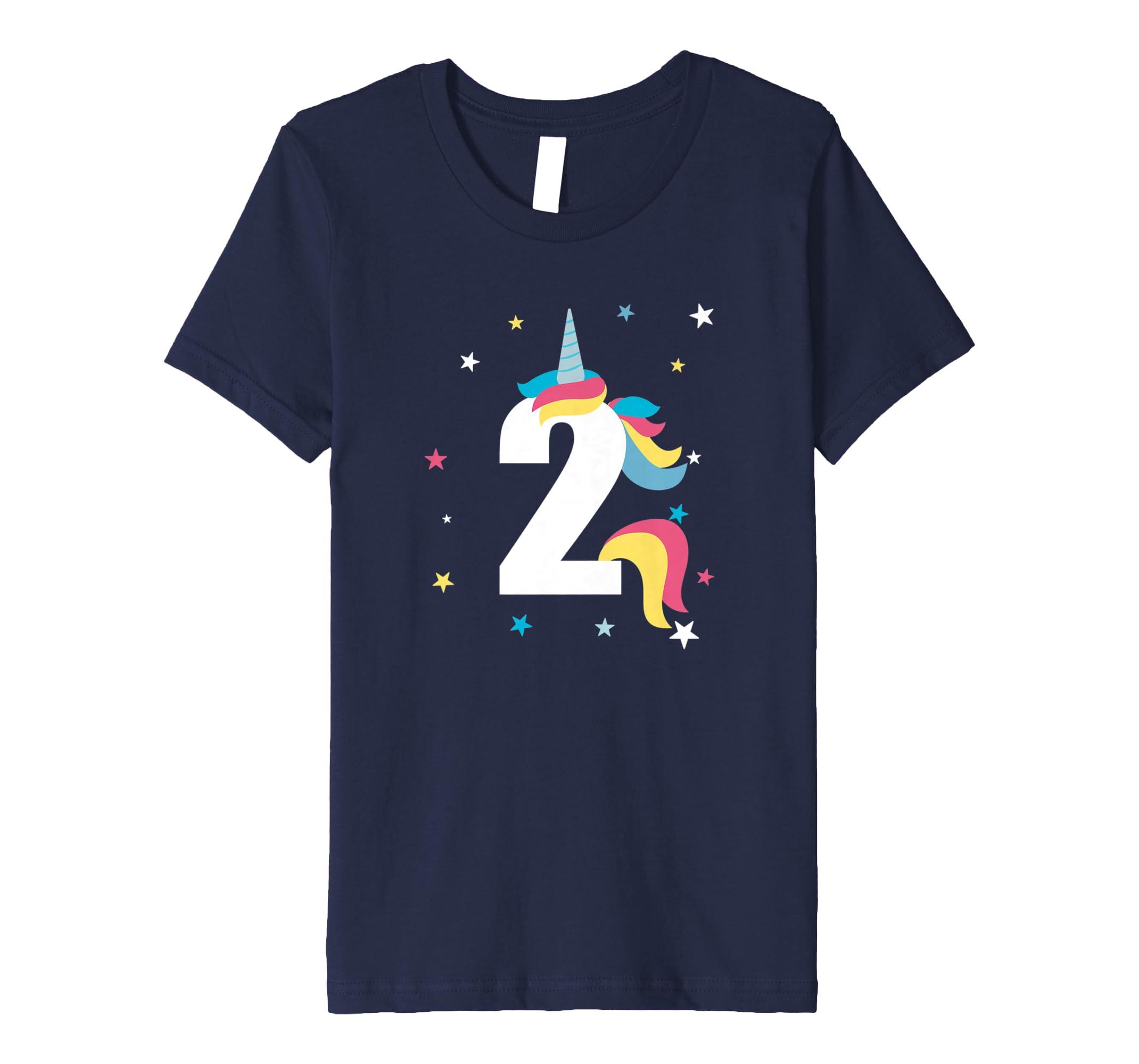2nd Birthday T Shirt Unicorn 2 Years Old Gift Amazoncouk Clothing