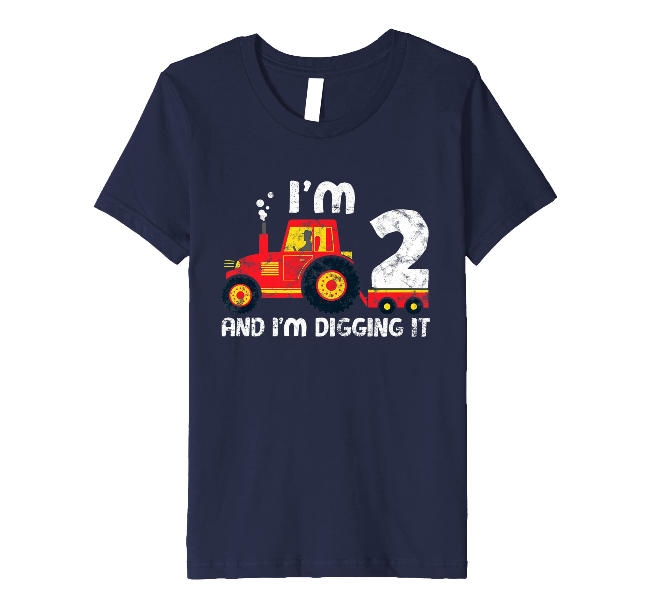 Youth Cute 2nd Birthday Boy Tractor Farmer Shirt Kids 2 Year Old Amazoncouk Clothing