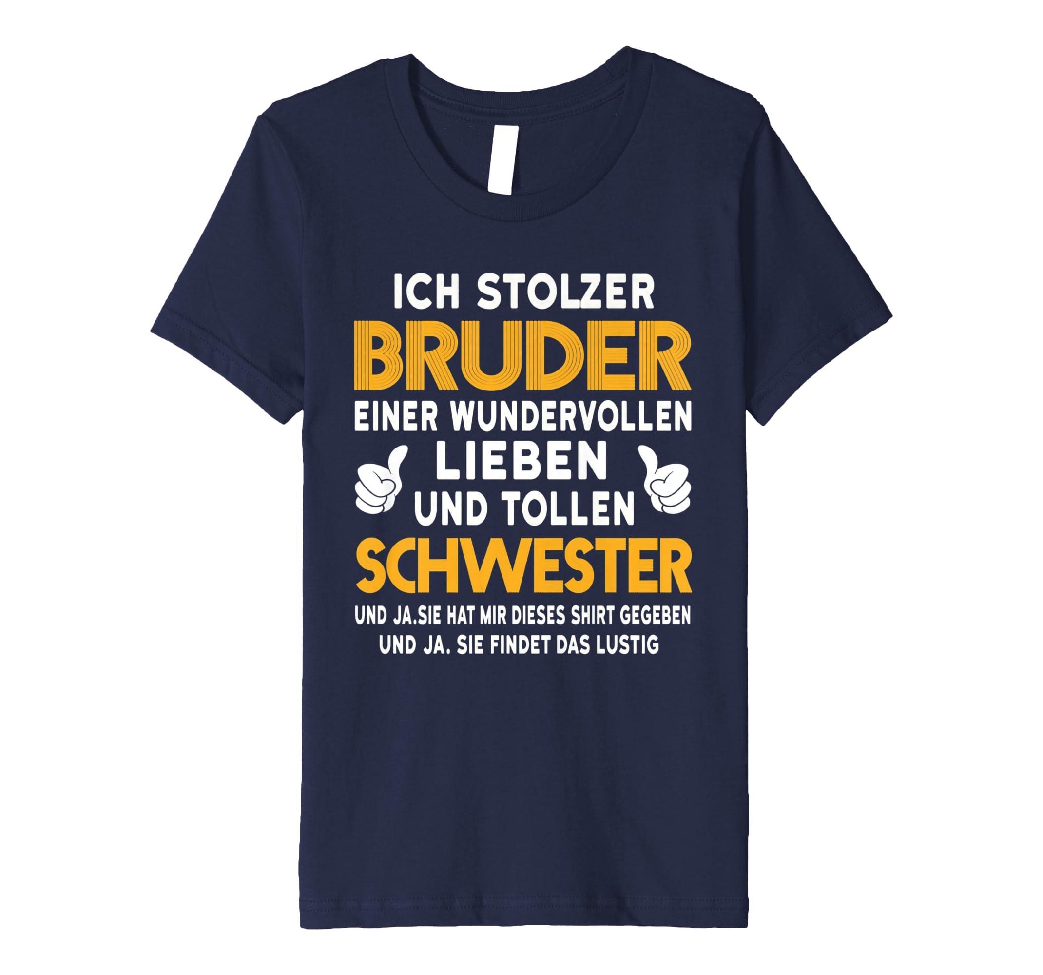 Bruder Und Schwester Ich Stolzer Bruder T Shirt Geburtstag
