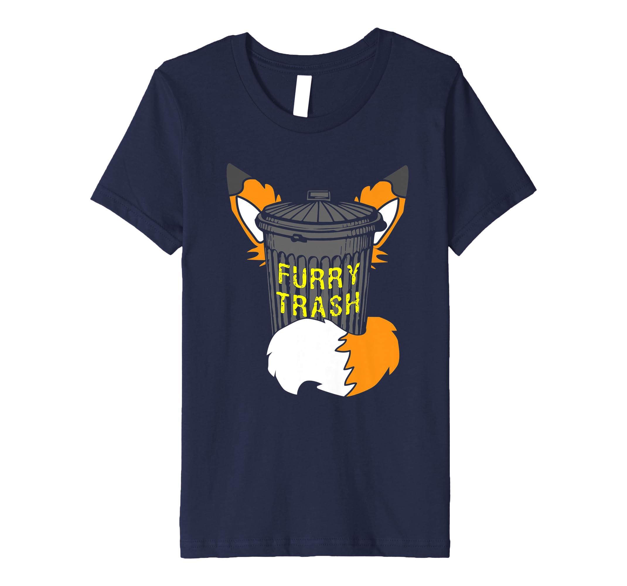 a86e4d527 Amazon.com: Fox Furry Trash Shirt Furries Tail Ears Cosplay Trash Can:  Clothing