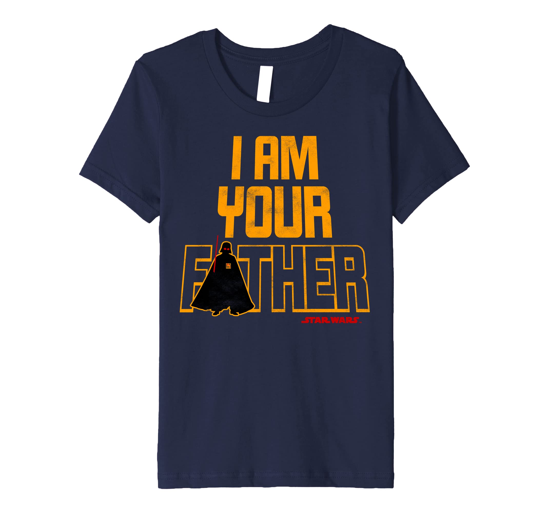 2c3cd994 Amazon.com: Star Wars Vader I Am Your Father Silhouette Premium T-Shirt:  Clothing