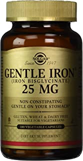 Solgar - Gentle Iron, 25 MG, 180 Vegetable Capsules
