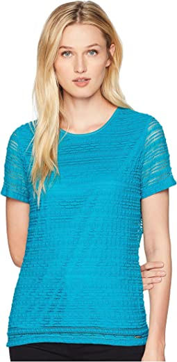Short Sleeve Knit Tee
