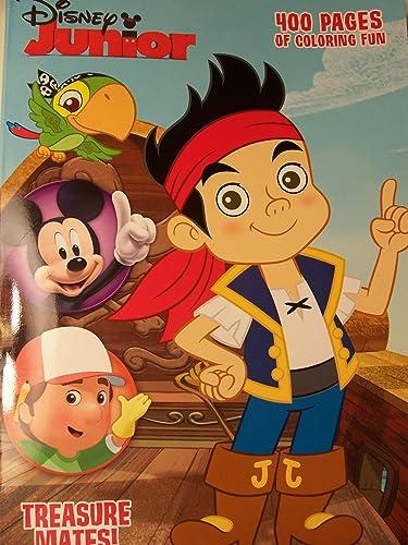 Disney Junior 400 Page Couleubague and Activity Book  Treasure Mates  (2013) by Dalmatian Press