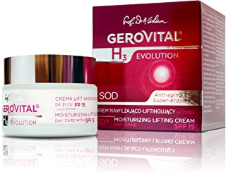 GEROVITAL H3 EVOLUTION, Moisturizing Lifting Cream With Superoxide Dismutase (Anti-Aging Super Enzyme) Day Care 30+