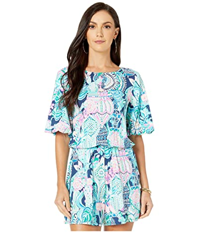 Lilly Pulitzer Britton Romper (Multi Lookin Sharp) Women
