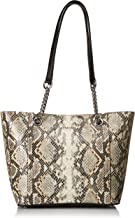 Calvin Klein Hayden Saffiano Leather Top Zip Chain Tote
