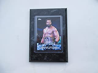 Jinder Mahal Backlash 2018 Topps WWE defeats Randy Orton for the WWE Championship card mounted on a 4