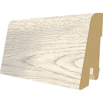 Innenecke 62mm PVC Kiefer wei/ß Laminatleisten Fussleisten aus Kunststoff PVC Laminat Dekore Fu/ßleisten DQ-PP
