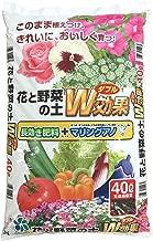 自然応用科学 花と野菜の培養土 W効果 40L 主に屋外向け 天然有機物たっぷり 即効・緩効性肥料配合