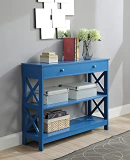 amazon com blue sofa console tables tables home kitchen rh amazon com distressed blue sofa table blue sofa table lamps