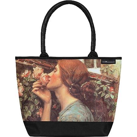 VON LILIENFELD Handtasche Damen Kunst Motiv Blumen John Waterhouse My sweet Rose Shopper Maße L42 x H30 x T15 cm Strandtasche Henkeltasche Büro